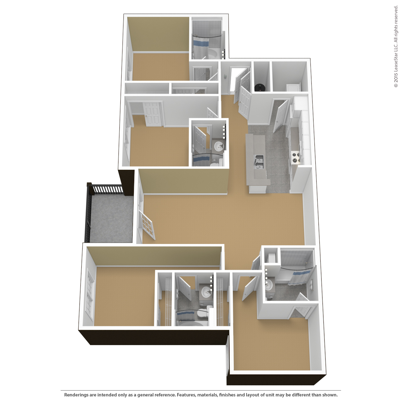 CTY 4 Bedroom 4 Bathroom   unfurnished. Floor Plans   Virtual Tours   The Courtyards